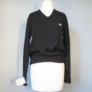Vintage Deadstock V neck sweater Black Mens